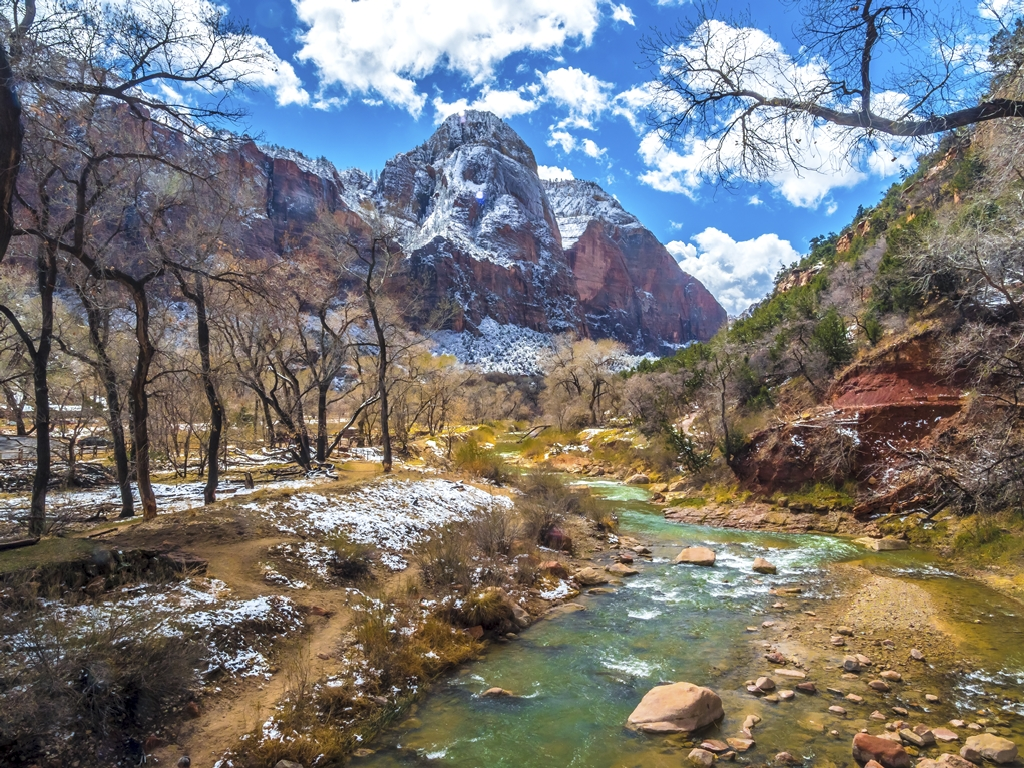 Virgin River and Watchman Peak